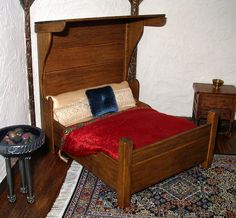 Tudor HalfTester Bed Dollhouse Miniature 1/12 by CalicoJewels
