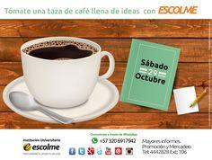 @Escolmeeduco No olvides disfrutar de un delicioso café este sábado 29 de octubre en la plazoleta ESCOLME ¡TE ESPERAMOS!