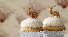 Deer on cupcake