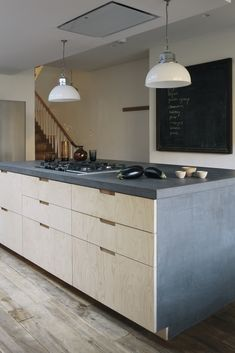 Plywood Kitchen Island in London. Built on Ikea cabinets. Ikea Cabinets, Kitchen Cabinets, Kitchen Designs, Kitchen Ideas, Kitchen Dining, Kitchen Island, Cabinet Island, Plywood Kitchen, Hidden Kitchen