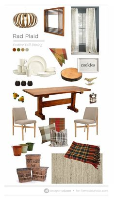 Plaid is perfect for Fall decor! We want to help you get inspired to use it in your decor! Learn more at Remodelaholic.com | Rad Plaid - Festive Fall Dining #falldecor #falldecorating #decoratingwithplaid #buffaloplaid #plaid