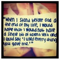 This really touched me... What are you doing with the gifts you have been blessed with?