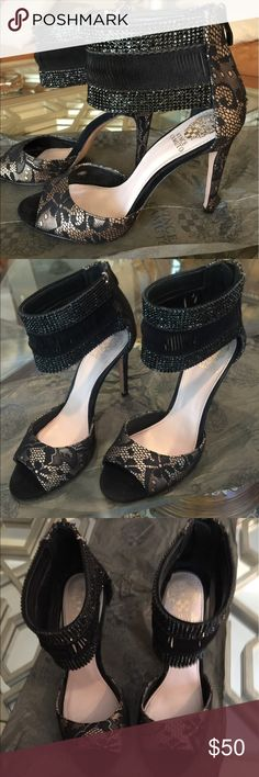 Vince Camuto hills Black sexy lace hills, gorgeous!!! 4.5 inch hills Vince Camuto Shoes Heels