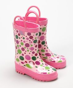 Look at this Candy Dot Rain Boot on #zulily today!