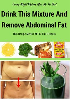 EVERY NIGHT BEFORE YOU GO TO BED, DRINK THIS MIXTURE: YOU WILL REMOVE EVERYTHING YOU HAVE EATEN DURING THE DAY BECAUSE THIS RECIPE MELTS FAT FOR FULL 8 HOURS - Health and Beauty Center