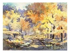 Golden Autumn Giclee Print by LaVere Hutchings at Art.com
