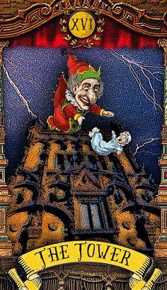 The Tarot of Mister Punch: Flinging Babies- If you love Tarot visit me at www.WhiteRabbitTarot.com