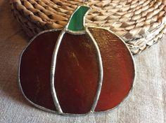 Tiffany style hanging pumpkin