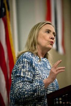 US Secretary of State Hillary Clinton speaks during a flag-raising ceremony at the US Consulate General in the mediterranean city of Alexandria on July 15, 2012.