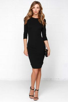 The Fifth Label No Time to Waste Dress - Black Dress - Midi Dress - $80.00