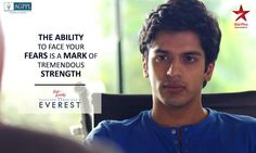 Overcoming his fears and taking the first step towards being successful is Aakaash's EVEREST.