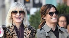 Everything We Learned From These Photos of Sandra Bullock and Cate Blanchett FilmingOcean's 8