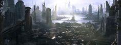"""civilizationfiction: """" SCIFI city concept by JJasso """""""