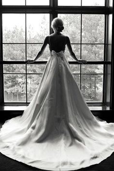 Gorgeous Wedding Dress with Cathedral Length Train