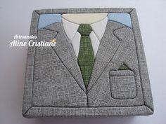 Artesanatos Aline Cristiane: Caixa Masculina Terno