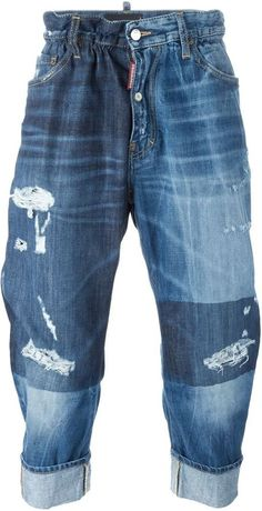 Dsquared2 'Big Brother' jeans Distressed Jeans, Dsquared2, Brother, Denim Shorts, Just For You, Stylish, Big, Shopping, Tops