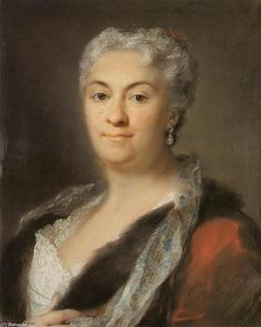 'Elderly Lady', Pastel by Rosalba Carriera (1675-1757, Italy)