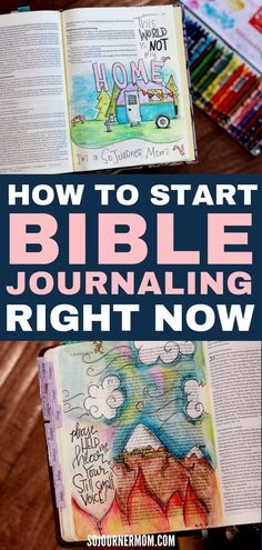A Guide to Bible Journaling for Beginners - Want to get started with Bible journaling but aren't sure how? This free guide to Bible journalin - Bible Journaling For Beginners, Bible Study Journal, Scripture Study, Bible Art, Art Journaling, Bible Bullet Journaling, Devotional Journal, Encouraging Bible Verses, Prayer Scriptures