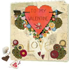"""Valentine"" by maggie-johnston on Polyvore"