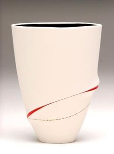Imiso Ceramics: Scarrified Slim Conical Vase