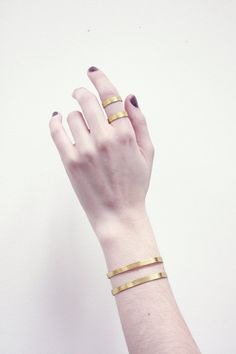 Double band brass cuff
