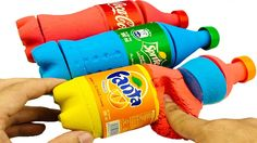Kinetic Sand Rainbow Fanta Coca cola Sprite Learn Colors With Johny John...