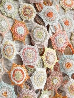 """""""Cell"""" small wool scarf   Sophie Digard   The French Needle"""