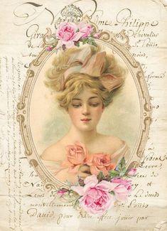 Decoupage Vintage, Vintage Crafts, Vintage Ephemera, Victorian Photos, Victorian Art, Vintage Pictures, Vintage Images, Dossier Photo, Paris Art