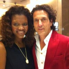 Aba Kwawu and Jewelry Designer Steven Webster at my Yurman Reception