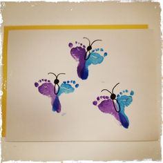 A Few Cute Butterfly Footprints From An Infant At KinderCare This Is The Perfect Toddler ArtToddler CraftsInfant