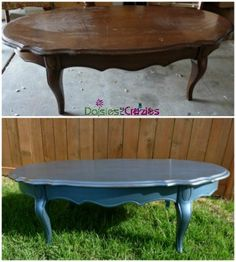 Modern Masters Metallic Paint on Furniture Before & After | Daisies & Crazies Tutorial
