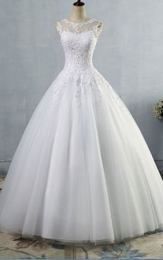 Princess Wedding Dress Lace Sequins A Line Lace Up Bridal Dress Pretty Wedding Dresses, Bridal Wedding Dresses, Wedding Dress Styles, Beautiful Dresses, Tulle Ball Gown, Wedding Dress Accessories, Princess Wedding, The Dress, Dress Lace