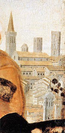 Piero della Francesca - Natività (dettaglio) - olio su tavola - ultima fase artistica 1470-1475 (o secondo alcuni fino al 1485) - National Gallery di Londra.