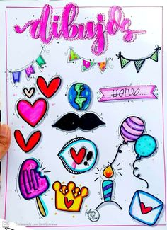 My Journal, Bullet Journal, Diy And Crafts, Banner, Clip Art, Kawaii, Stickers, Writing, Drawings