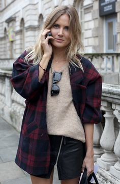 London Fashion Week street style tartan army | Global Blue
