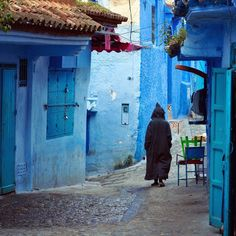 Blue medina of Chefchaouen, northern Morocco