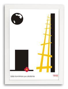 Plakat Kominiarz cz.1 w białej ramce