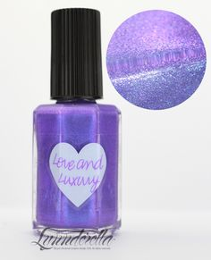 Lynnderella Limited Edition—Love and Luxury is one of the earliest Lynnderellas, developed during 2008 and 2009. This new version is an intense mid-toned lavender violet with blue and pink shimmer.