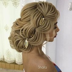 76 – 2019 Wavy, Curly, Straight & Short Cut Hair Designs – 24 2019 We have collected various designs of … Baby Girl Hairstyles, Bride Hairstyles, Hairstyles 2018, Chignon Volume, Creative Hairstyles, Cool Hairstyles, Blond, Hair Expo, Bridal Hair Buns