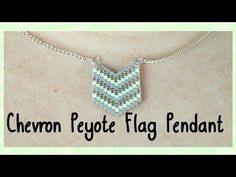 DIY Peyote Chevron Flag Pendant Tutorial // Bead Weaving // ¦ The Corner of Craft - YouTube