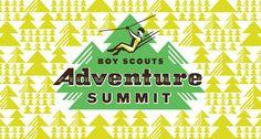 Boy Scouts Adventure Summit by Nathan Hinz, via Behance. Graphic Design Branding, Logo Branding, Visual Identity, Brand Identity, Creative Studio, Boy Scouts, Tool Design, Graphic Design Inspiration, Graphic Illustration