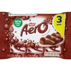 Aero Milk Chocolate Bubbly Bars X 3 Candy Recipes, Gourmet Recipes, Snack Recipes, British Candy, Bubbly Bar, Pop Tarts, Bubbles, Chocolate, Milk