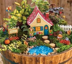 Fairy Garden Design Ideas For Summer 53 Gardens are don't just for lawns an. Fairy Garden Design I Indoor Fairy Gardens, Mini Fairy Garden, Fairy Garden Houses, Miniature Fairy Gardens, Fairies Garden, Autumn Fairy, Autumn Garden, Summer Garden, Water Garden