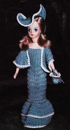 Robe poupée au crochet