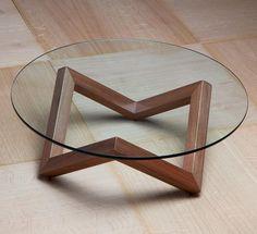 שולחן זכוכית עגול לסלון Designed coffee table ייצור: שח רהיטים