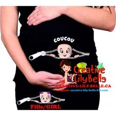CHANDAIL DE MATERNITÉ  PEEKABOO FASHION 290 FUNNY MATERNITY SHIRT Pregnancy Band, Funny Pregnancy Shirts, Pregnancy Humor, Maternity Shops, Maternity Tees, Funny Maternity, All Family, Peek A Boos, Beautiful Patterns