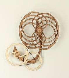 Shimmer Kinetic Sculpture Wood That Works Kinetic Sculptures By - Mechanical kinetic sculptures bob potts inspired animals
