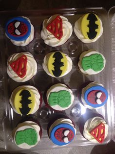 Super hero cuppies!  #lapetitecherieSTL