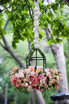 ♆ Blissful Bouquets ♆ gorgeous wedding bouquets, flower arrangements & floral centerpieces - armful of flowers - floral lantern Lustre Floral, Deco Floral, Arte Floral, Floral Style, Garden Wedding, Dream Wedding, Spring Wedding, Elegant Wedding, Floral Chandelier