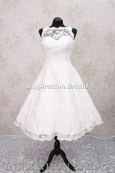 vintage lace short wedding dress